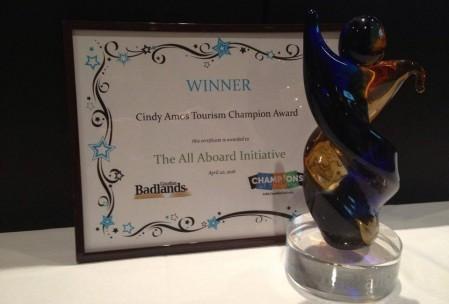 Cindy Amos Tourism Champion Award